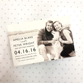 Amelia & Peter Photo Save the Date