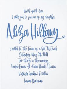 Aliza Hillary Bat Mitzvah