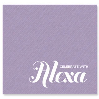 Celebrate with Alexa Napkin
