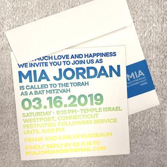 Mia Jordan Bat Mitzvah