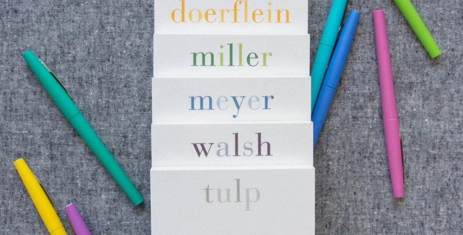 Rainbow Name Notepad
