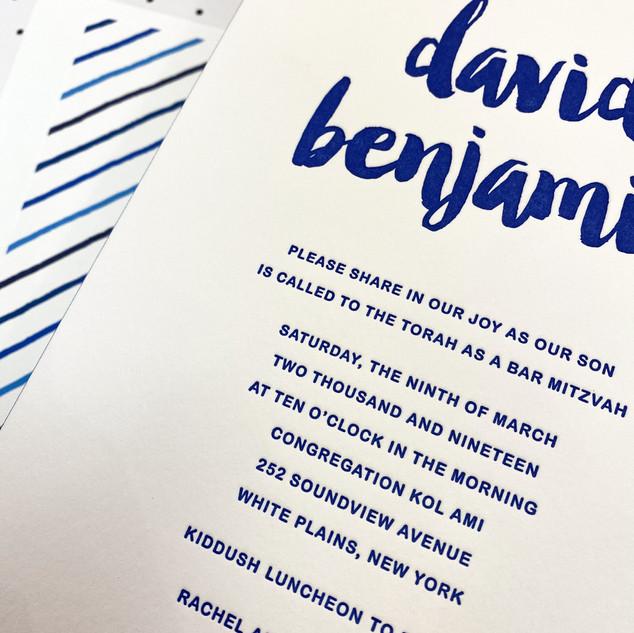 David Benjamin Bar Mitzvah