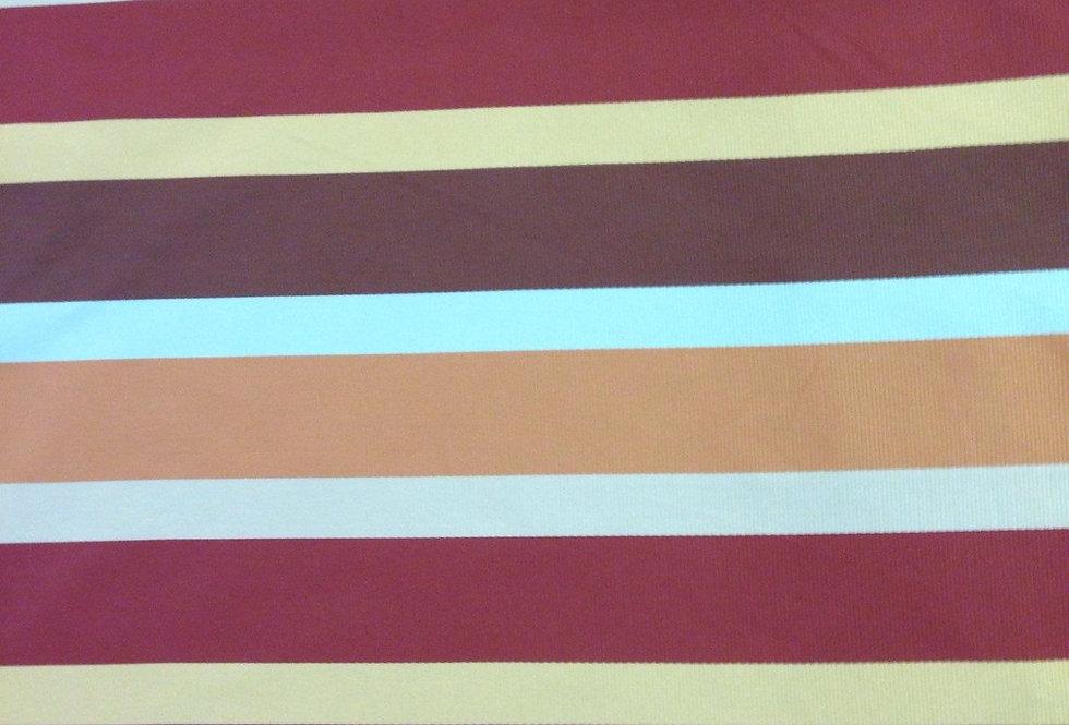 Silk Multicolored Stripe Fabric
