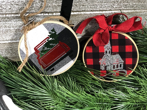 """4"""" Embroidery Hoop Ornament"""