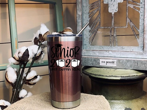 20 oz Insulated Tumbler w/ Lid & Stainless Straw