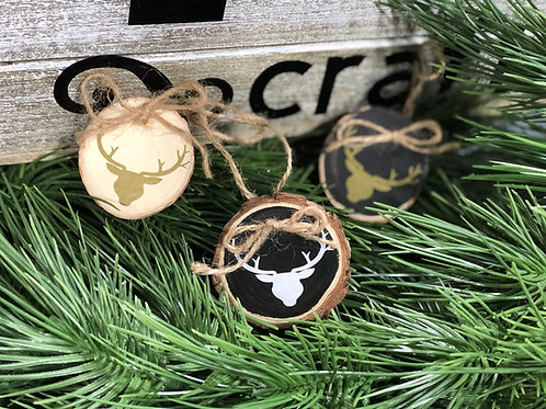 Small Natural Wood Slice Ornaments