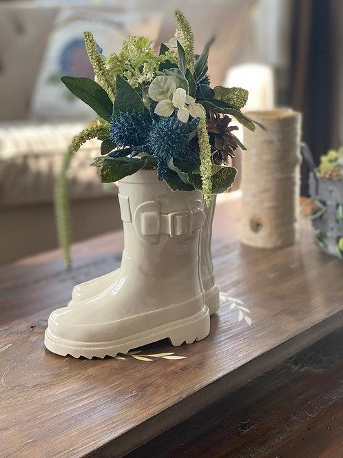 Rain boot arragement holder