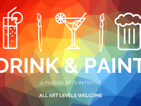 Yay! DRINK & PAINT classes!