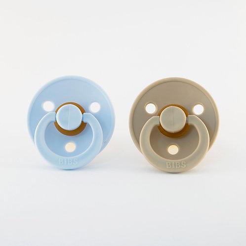 Set 2 dudlíkov BIBS / Veľ. 2 / rôzne farby