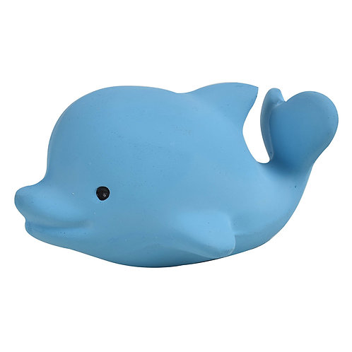 Natural Rubber Bath Toy, Teether and Rattle / Dolphine