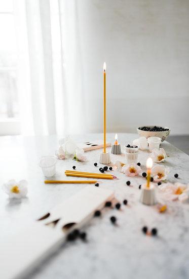 Prírodné sviečky OVO Things / vysoké tenké
