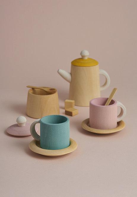 Drevený čajový set RADUGA GREZ / Pastelový