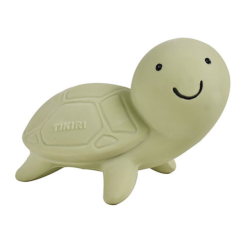 Natural Rubber Bath Toy, Teether and Rattle / Turtle