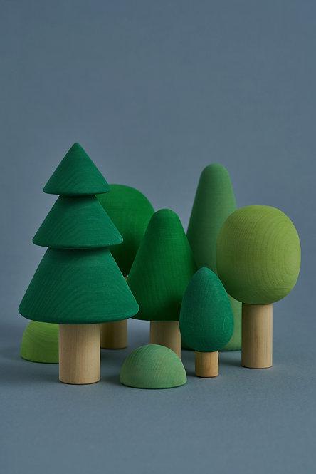 Drevený les RADUGA GREZ / Farebný
