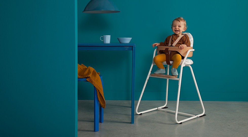 Detská stolička TIBU / Gentle White