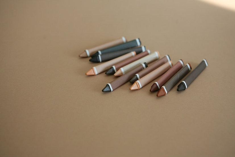 edukačné voskovky / farby pleti / 12 ks