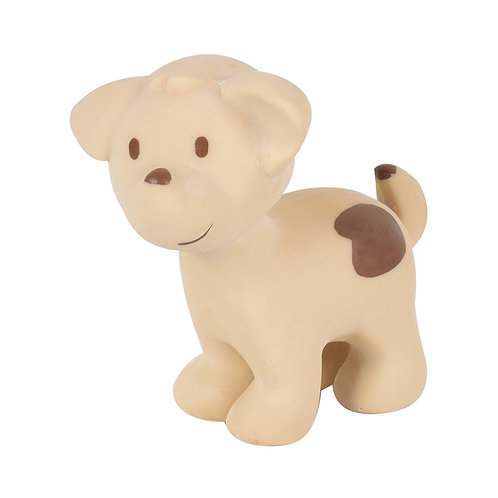 Natural Rubber Bath Toy, Teether and Rattle / Dog