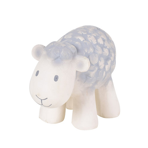 Natural Rubber Bath Toy, Teether and Rattle / Sheep