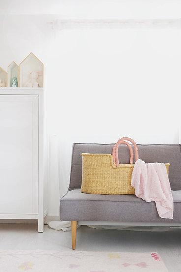 Mojžišov kôš pre bábätko / Natural & Pink