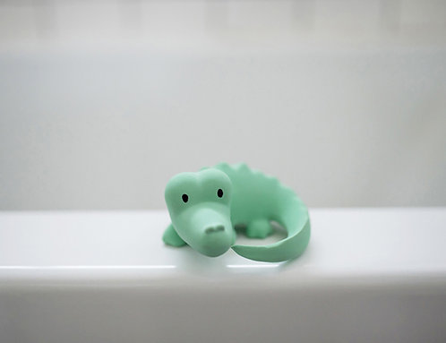 Natural Rubber Bath Toy, Teether and Rattle / Crocodile