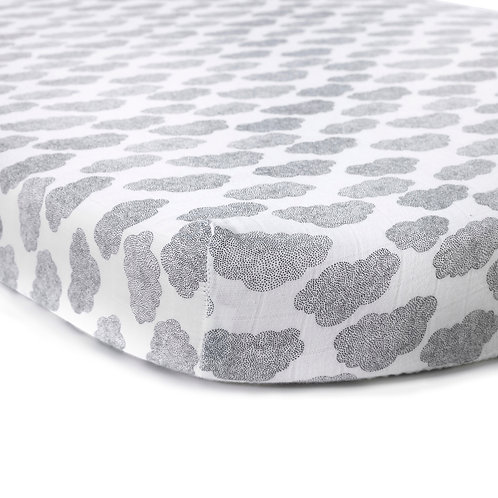 Moumout Papuche Cloud Fitted Sheet for KUMI Crib