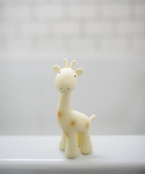 Prírodná hračka do vody a hryzátko / Žirafka