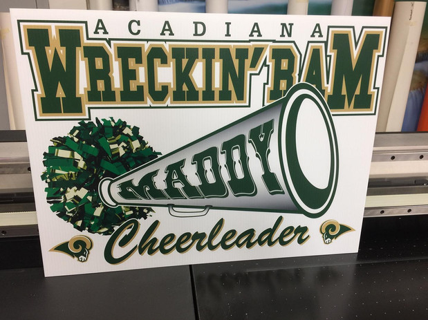 Support Acadiana High Custom Sign