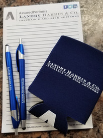 Notepads, Pens and Coozies Custom Business