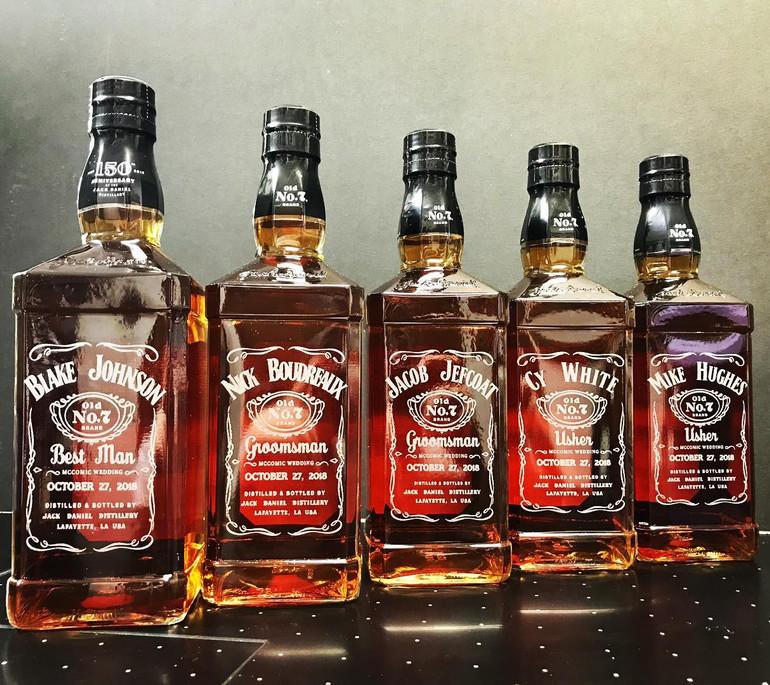 Groomsmen Etched Bottles Custom Gifts