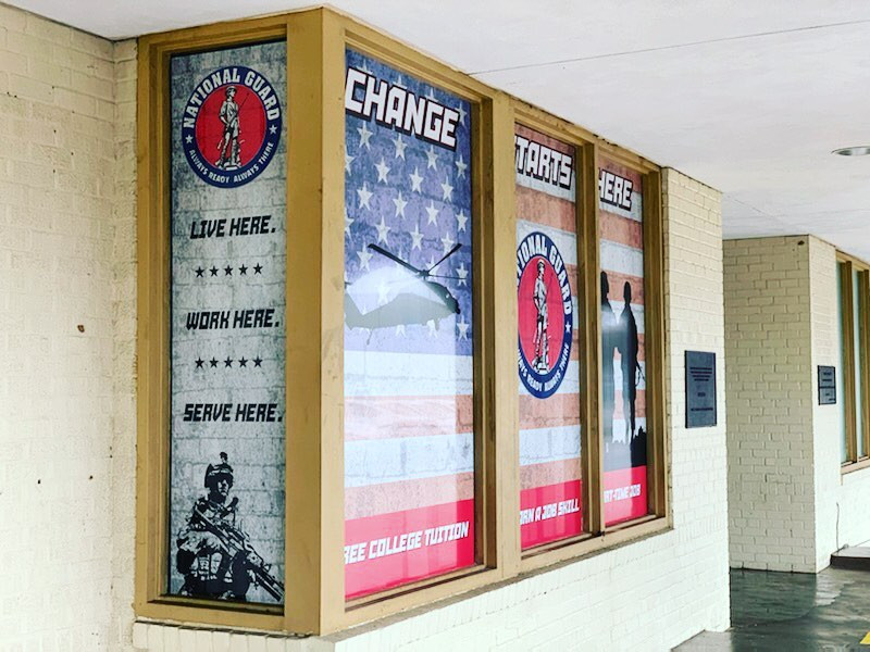 Window Sign Nat Guard Louisiana