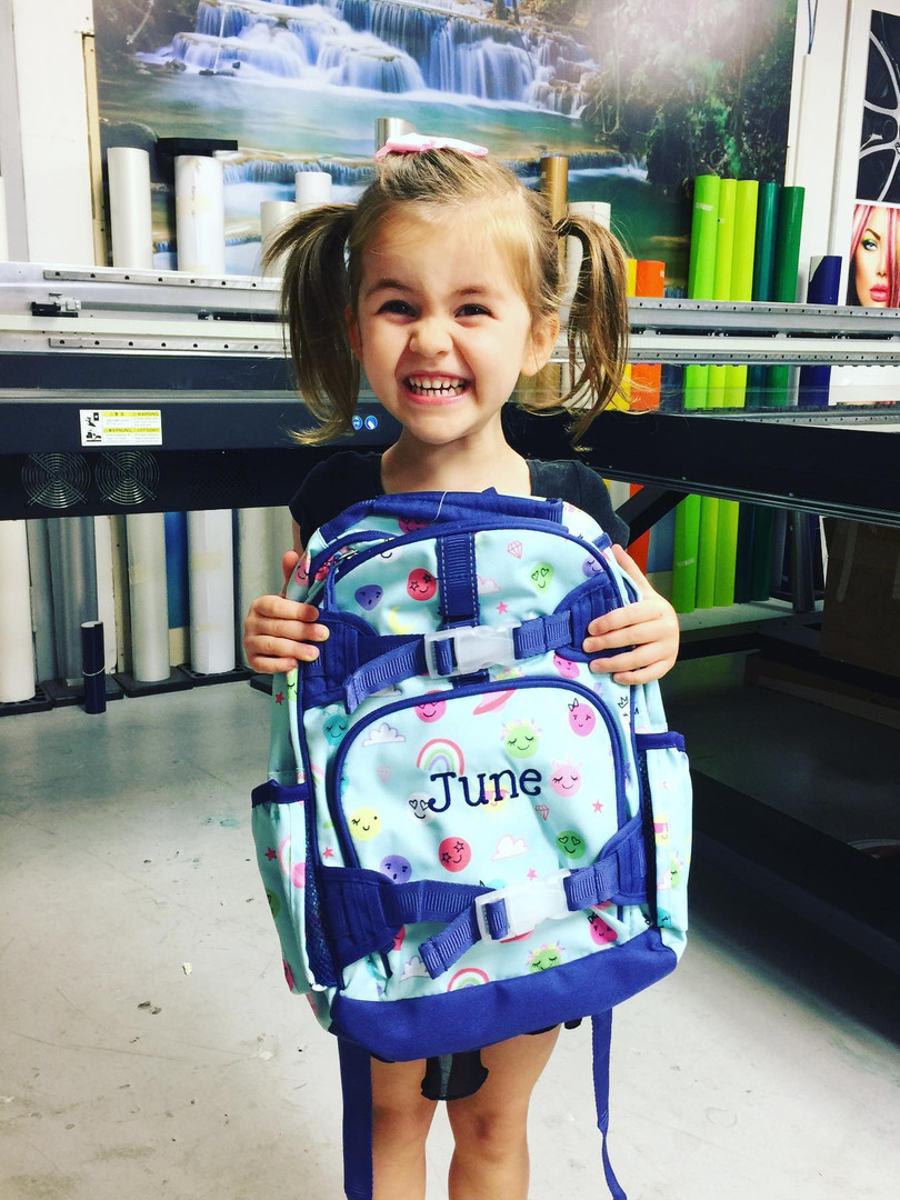 June's Personalized Backpack