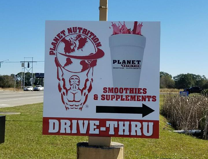 Planet Nutrition Custom Sign
