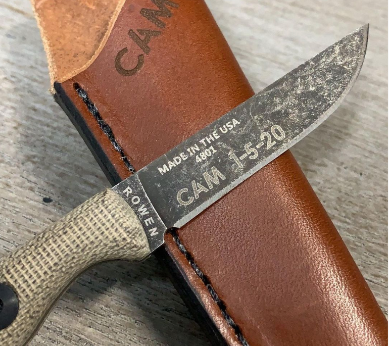 Personalized Knife and Leather Sheath