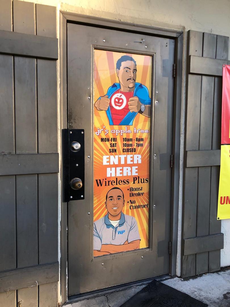 Window Sign Business Custom