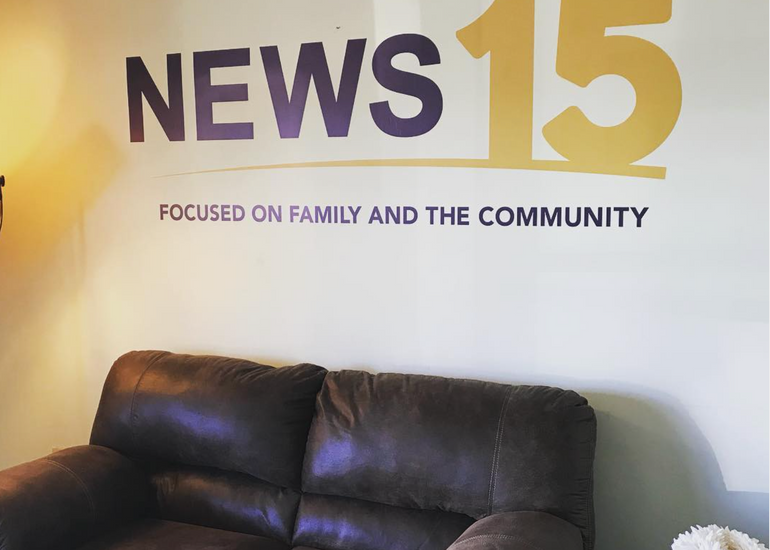 News 15 Wall Graphic