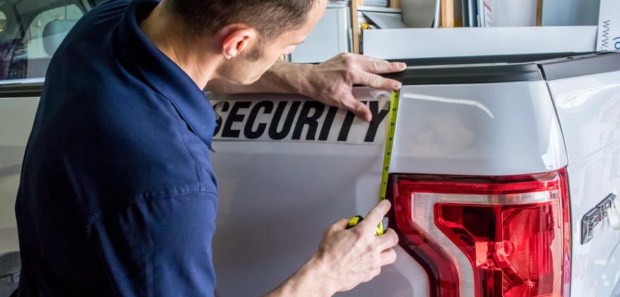 Vehicle Custom Wrap Installation
