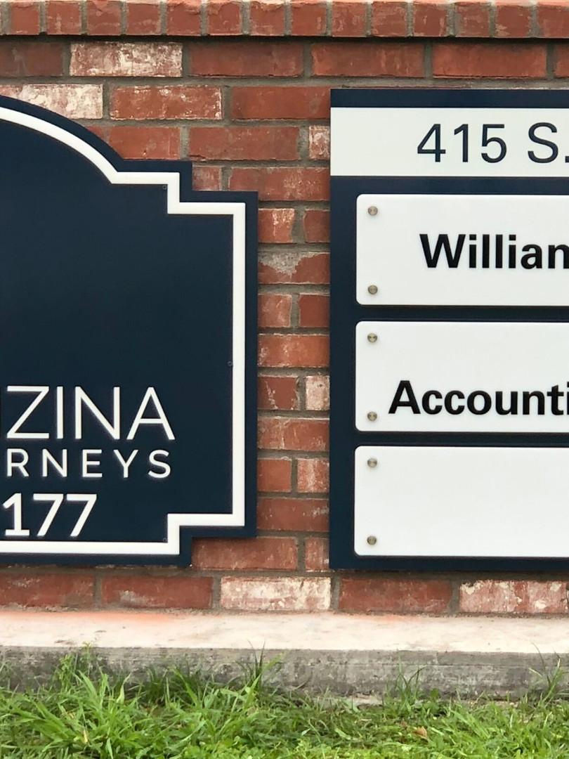Brick Signs for Blase Inzina