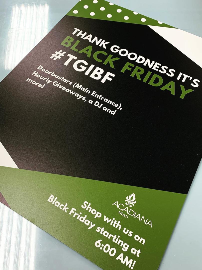 Black Friday Mall Sign