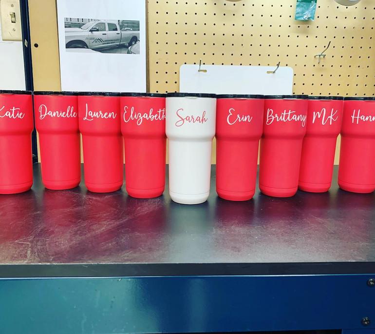 Bride Tribe Laser Custom Cups