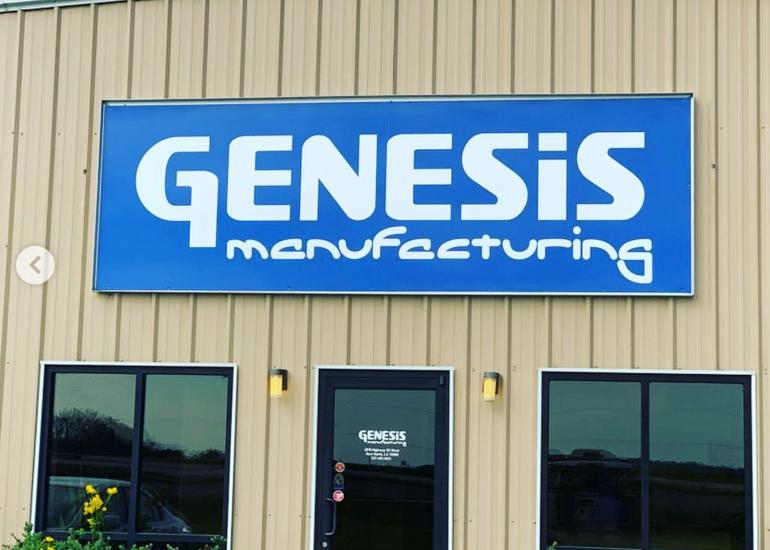 Genesis Manufacturing Exterior Sign