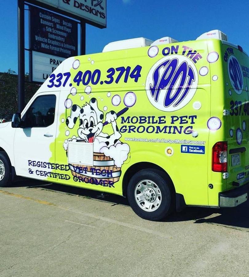 Wrap Grooming Custom Van