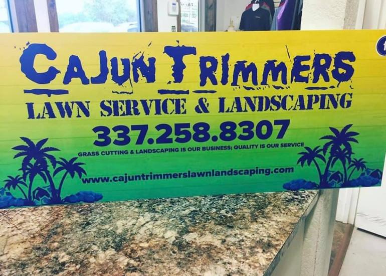 Cajun Trimmers Sign Custom