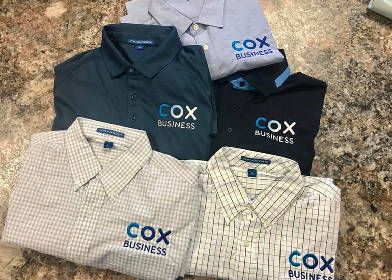 Cox Embroidered Custom Business Shirts