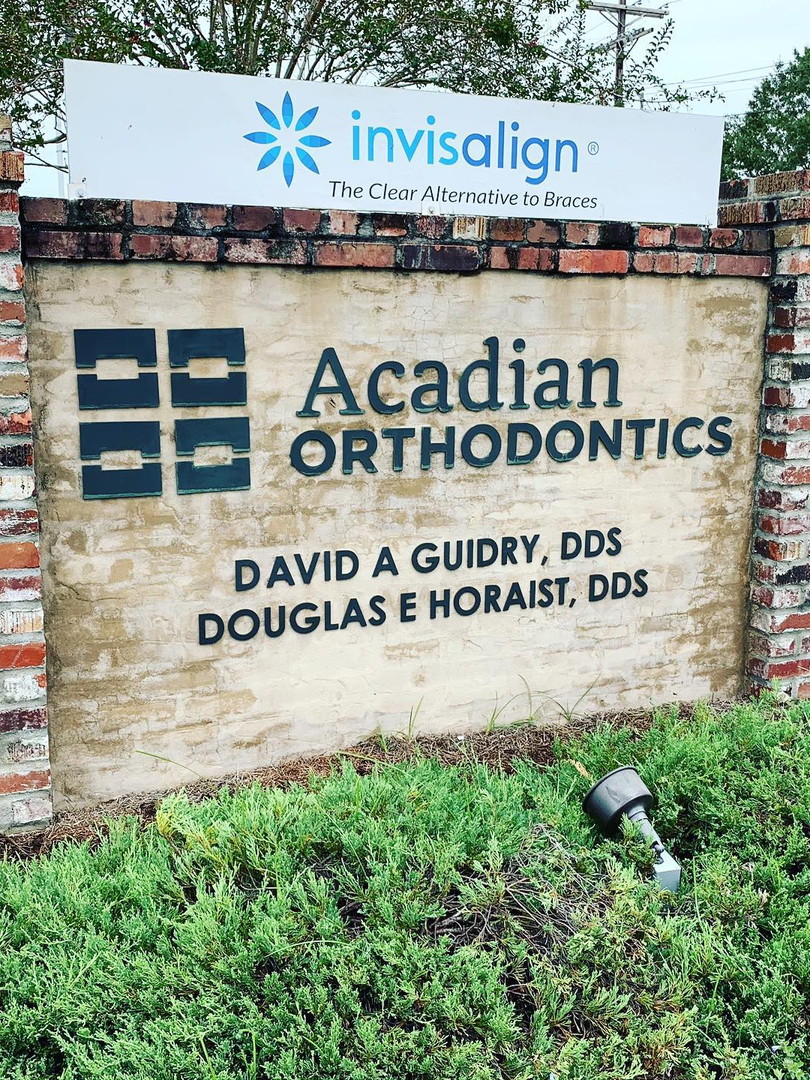 Lasered Plexiglass Letters Exterior Sign
