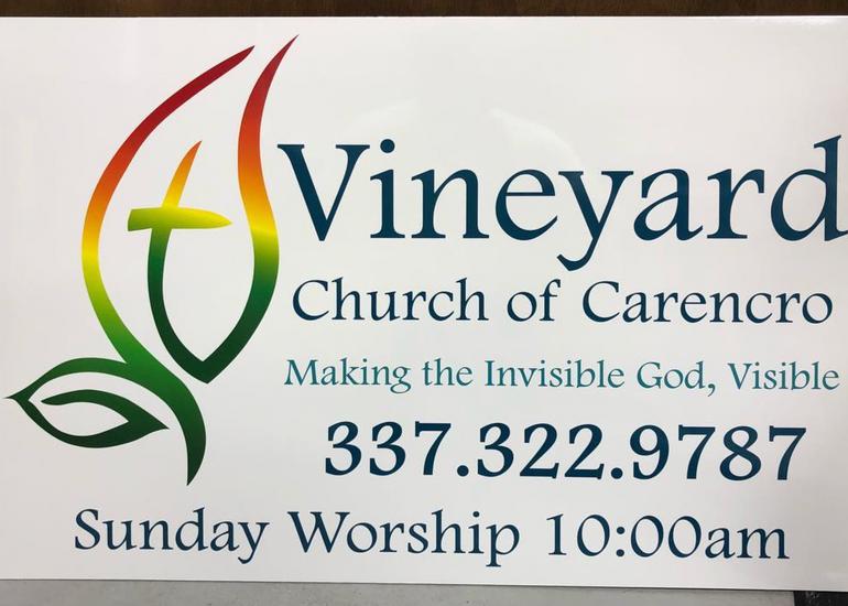 Vineyard Church of Carencro Sign