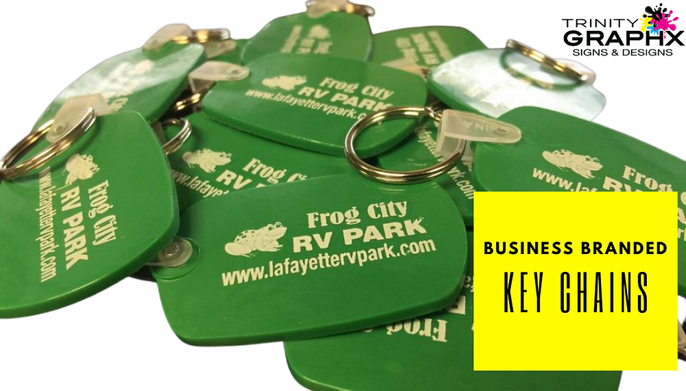 Trinity Graphx Business Branded Keychains Promotional Products