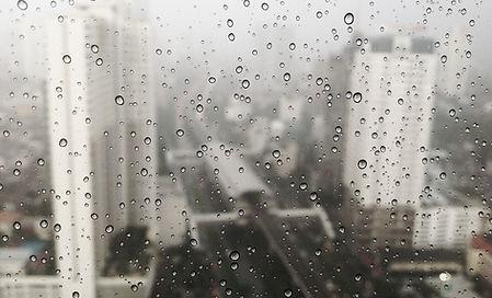 Gouttelettes sur la fenêtre