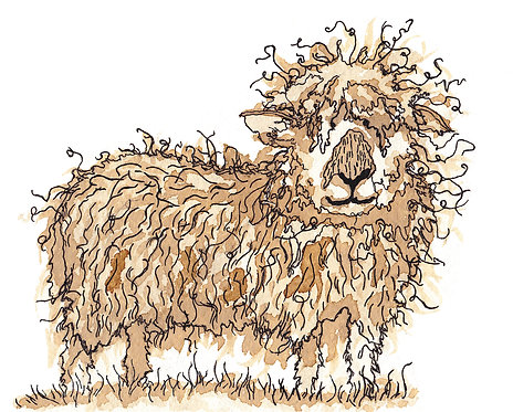 Cotswold Lion Greetings Card