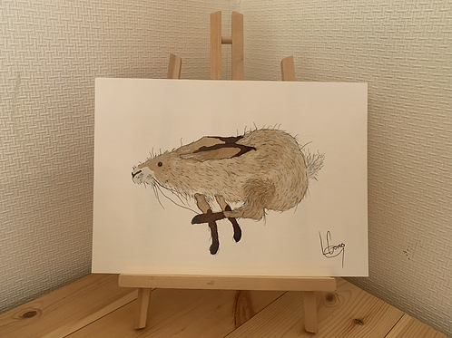 Running Hare Original painting