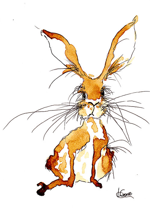 March Hare Greetings Card